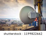 powerful round antenna is on... | Shutterstock . vector #1199822662