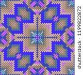 symmetry pattern  decorative... | Shutterstock .eps vector #1199822872