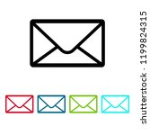 email icon vector  envelope... | Shutterstock .eps vector #1199824315