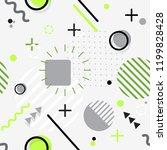 trendy seamless memphis style... | Shutterstock .eps vector #1199828428