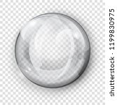 big translucent gray sphere... | Shutterstock .eps vector #1199830975