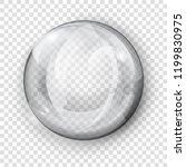 big translucent gray sphere... | Shutterstock .eps vector #1199830975