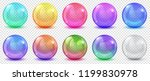 set of translucent colored... | Shutterstock .eps vector #1199830978