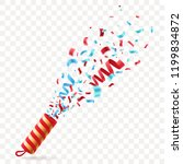 party cracker with colorful... | Shutterstock .eps vector #1199834872
