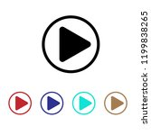 play icon  media sign  button | Shutterstock .eps vector #1199838265