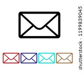 mail icon vector  envelope sign ... | Shutterstock .eps vector #1199839045