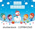 vector illustration of christmas | Shutterstock .eps vector #1199841565