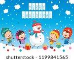 vector illustration of christmas | Shutterstock .eps vector #1199841565