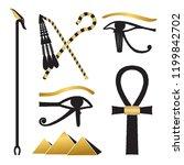 set of ancient egypt... | Shutterstock .eps vector #1199842702