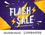 flash sale banner template... | Shutterstock .eps vector #1199844598