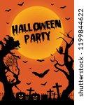 halloween poster. halloween...   Shutterstock .eps vector #1199844622