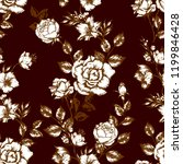 vintage flowers roses. seamless ...   Shutterstock .eps vector #1199846428