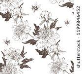 vintage flowers peonies....   Shutterstock .eps vector #1199846452
