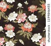 vintage flowers peonies....   Shutterstock .eps vector #1199846455