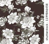 vintage flowers peonies....   Shutterstock .eps vector #1199846458