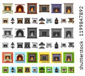 different kinds of fireplaces... | Shutterstock .eps vector #1199847892