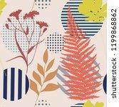 botanical abstract seamless...   Shutterstock .eps vector #1199868862