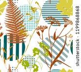 botanical abstract seamless...   Shutterstock .eps vector #1199868868