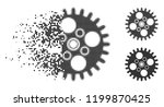 cogwheel icon in disappearing ... | Shutterstock .eps vector #1199870425