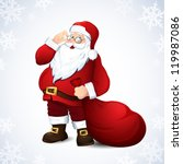 vector illustration with santa... | Shutterstock .eps vector #119987086