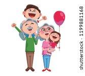 grandparents and grandchildrens | Shutterstock .eps vector #1199881168