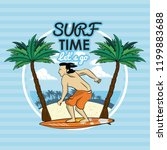 tropical surfing lifestyle theme | Shutterstock .eps vector #1199883688