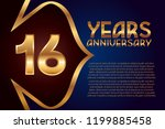 16th anniversary numbers.... | Shutterstock .eps vector #1199885458