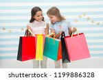 shopping with best friend... | Shutterstock . vector #1199886328