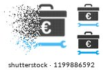 euro toolbox icon in fractured  ... | Shutterstock .eps vector #1199886592