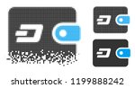 dash pouch icon in dissolved ... | Shutterstock .eps vector #1199888242