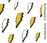 lightning seamless pattern... | Shutterstock .eps vector #1199890678