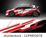 car wrap design vector.... | Shutterstock .eps vector #1199893078
