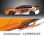 car wrap design vector.... | Shutterstock .eps vector #1199893105