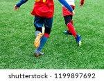 football teams   boys in red ...   Shutterstock . vector #1199897692