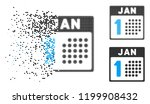 january first icon in dispersed ... | Shutterstock .eps vector #1199908432