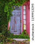 residence front entrance. blue... | Shutterstock . vector #1199913295