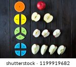 colorful math fractions and... | Shutterstock . vector #1199919682