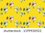 cute bird seamless pattern on... | Shutterstock .eps vector #1199920522