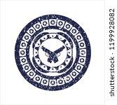 blue crossed pistols icon... | Shutterstock .eps vector #1199928082