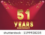 51th anniversary numbers.... | Shutterstock .eps vector #1199928235