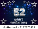 52th anniversary numbers.... | Shutterstock .eps vector #1199928595