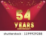 54th anniversary numbers.... | Shutterstock .eps vector #1199929288