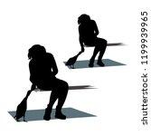 vector silhouette of a girl... | Shutterstock .eps vector #1199939965