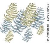 fern frond herbs  tropical... | Shutterstock .eps vector #1199940418