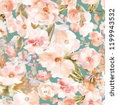 modern watercolor floral... | Shutterstock . vector #1199943532