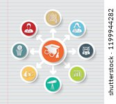 education and science icon info ... | Shutterstock .eps vector #1199944282