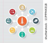 education and science icon info ... | Shutterstock .eps vector #1199944318