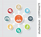 medical and health care icon... | Shutterstock .eps vector #1199944675