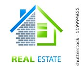 house   real estate sign  ... | Shutterstock .eps vector #119994622