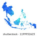 southeast asia map in geometric ... | Shutterstock .eps vector #1199952625